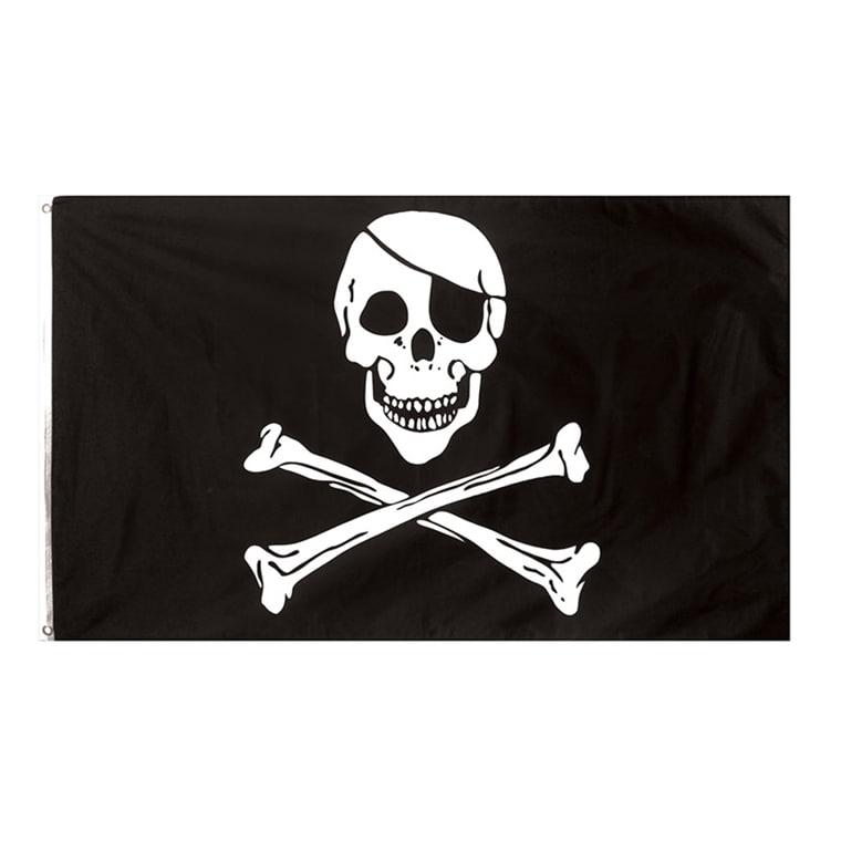 piratflagga i tyg jolly roger 90 x 150 cm edd85f832632a