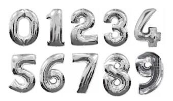 stora ballonger med siffror