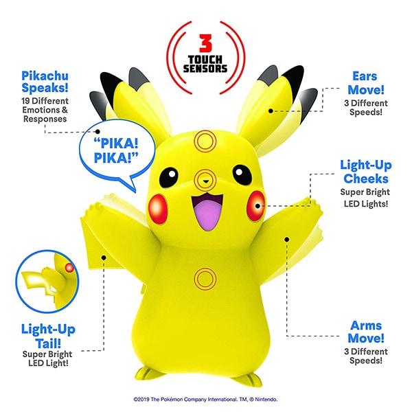 Pokemon, Interactive Figure Pikachu 10 cm