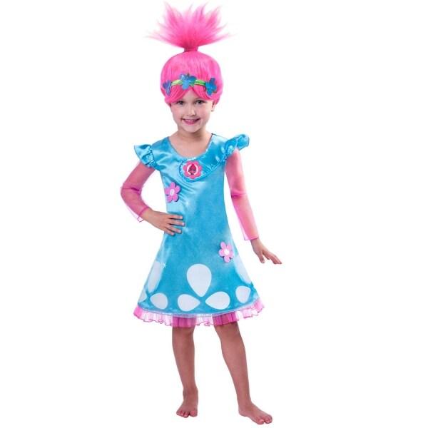 Trolls Poppy Maskeraddräkt med peruk Barn 3-8 år eeca48dac025b