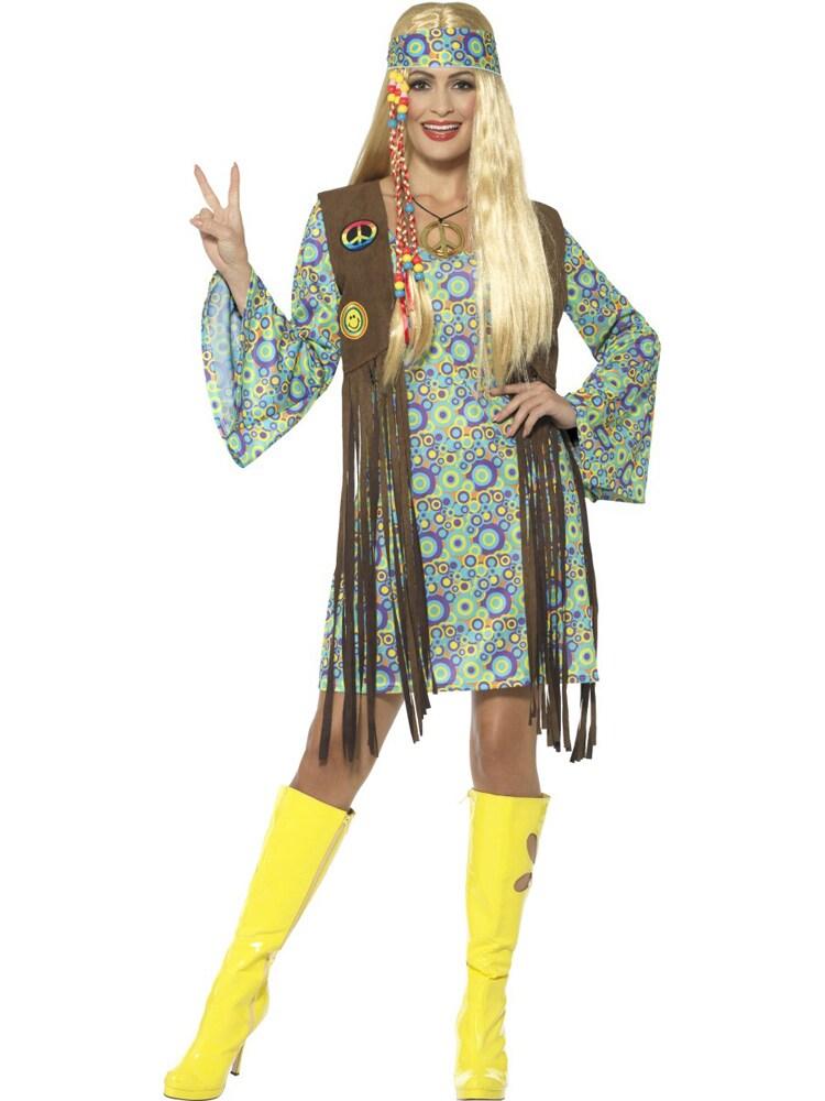 a9f0cb1a8d2b 60s Hippie Chick Maskeraddräkt